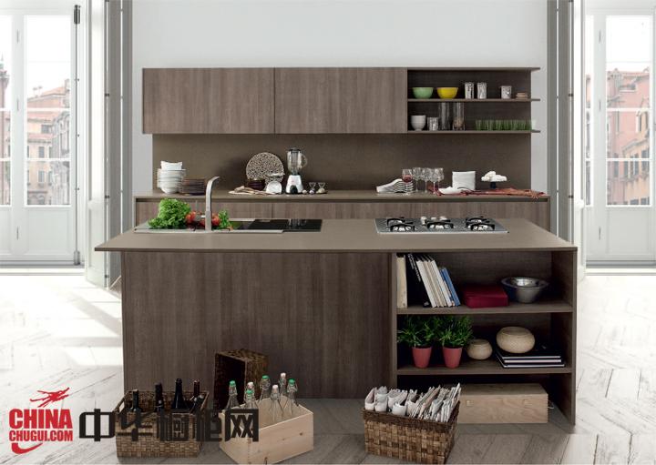 整体厨房装修效果图 简单而又温馨的整体厨房图片