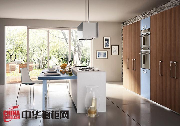 温和自然原木色橱柜效果图 打造纯正北欧风厨房