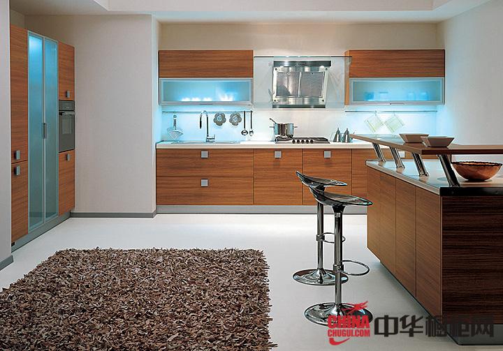 朴实无华整体橱柜图片 开放式厨房装修效果图
