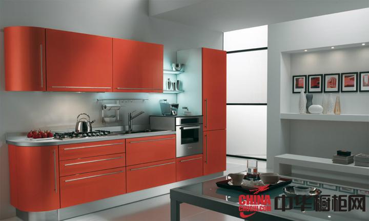 最新款时尚整体橱柜效果图 厨房也需要精心的装扮
