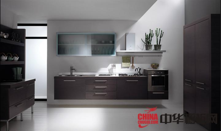 开放式厨房装修效果图 厨房整体橱柜效果图