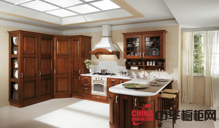 欧式田园风格优雅橱柜图片 让你的厨房离自然更近一些