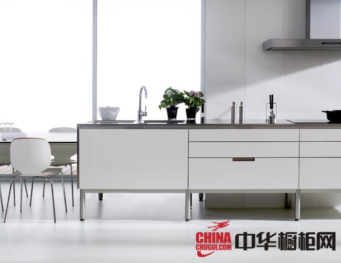 时尚简约风整体橱柜图片 开放式厨房装修效果图