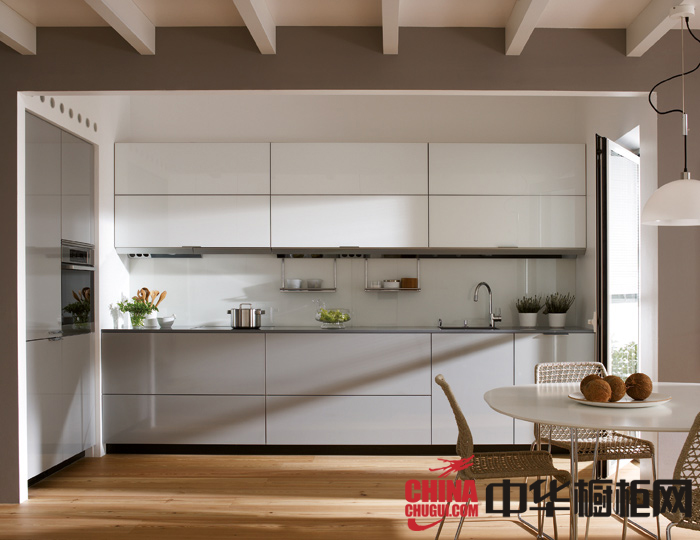 简洁北欧风整体橱柜效果图 小厨房装修效果图