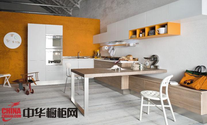 开放式厨房装修效果图 演绎时尚个性厨房