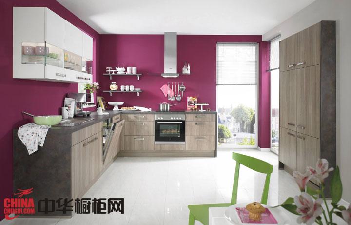 """时髦原木整体橱柜效果图片 打造厨房新""""柜""""族"""