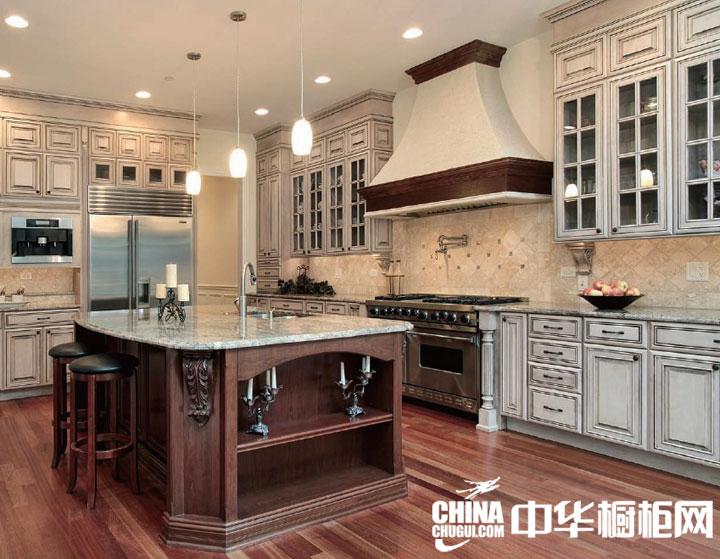 瑞禾木业实木系列欧式厨房装修效果图-中华橱柜网
