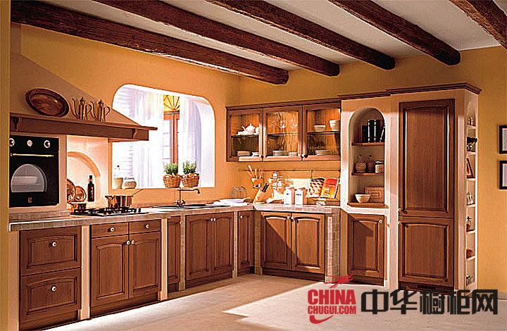 美式田园风格橱柜图片 打造浪漫清新整体厨房