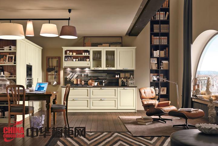 温馨实木田园风格厨房装修效果图 梦想中的开放式厨房