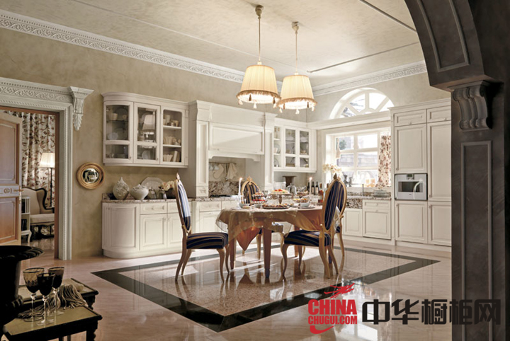 大气欧式风格厨房装修效果图 无处不在的奢华精彩