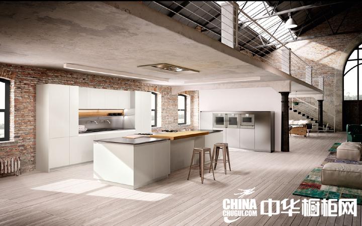 大户型厨房装修效果图 现代风格橱柜图片欣赏