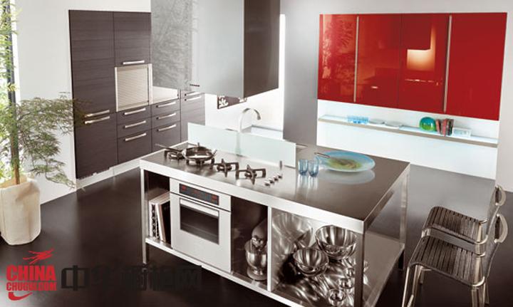 冰冷不锈钢橱柜图片 让你的厨房冷艳奢华