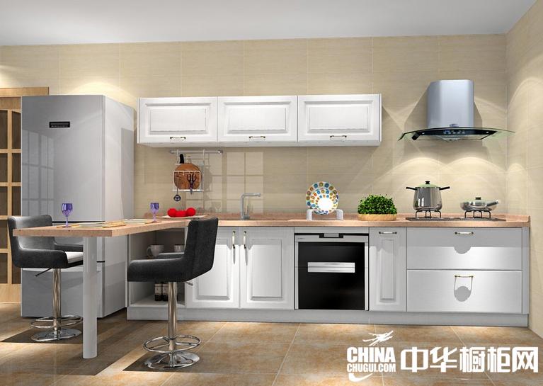 开放式厨房装修效果图 适合80后年轻一族的橱柜