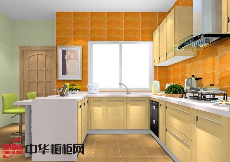 U型开放式橱柜图片 新实用主义厨房设计