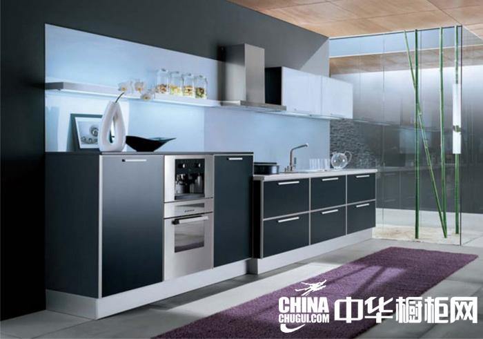 一字型橱柜 时尚小厨房设计装修效果图