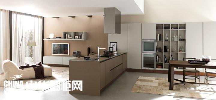 北欧艺术气息公寓 开放式厨房装修效果图图片