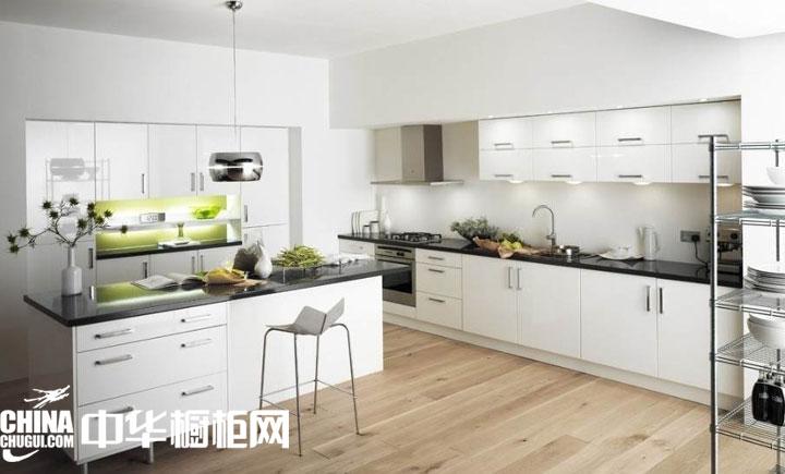 """北欧风开放式厨房装修效果图 打造属于自己的优雅""""白""""图片"""