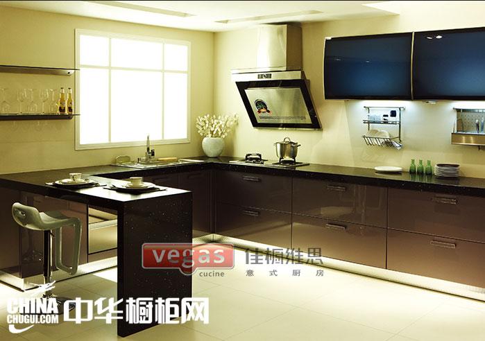 中小户型厨房 现代风格橱柜装修效果图