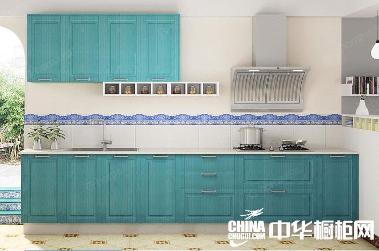 欧式田园风格整体橱柜图片 流淌着梦想的厨房设计