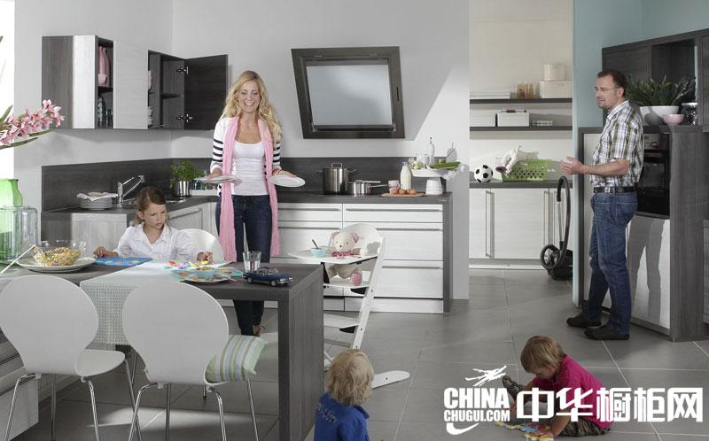开放式整体橱柜图片 厨房凸显时尚魅力