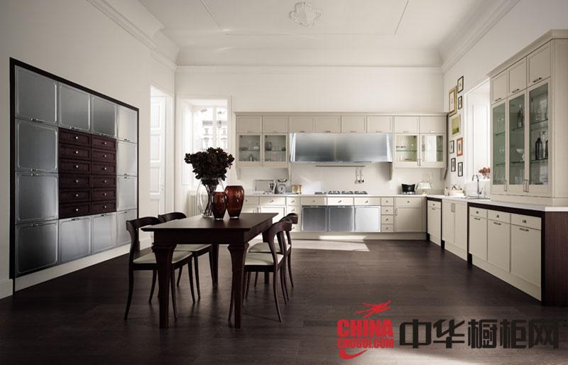 田园风格开放式厨房装修效果图 大气设计风靡眼球