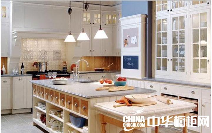 田园风格整体橱柜图片 厨房也需要一点点创新