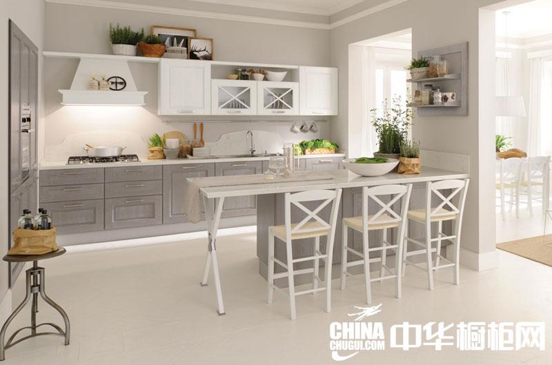 韩式田园风格整体橱柜图片 精致厨房层出不穷