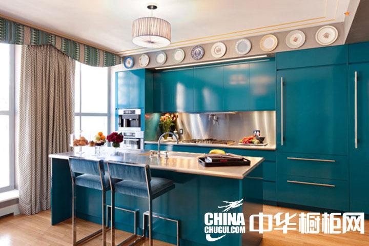 简约风格整体橱柜效果图 充满朝气的厨房空间