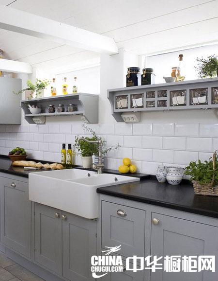 手绘厨房吊顶透视图