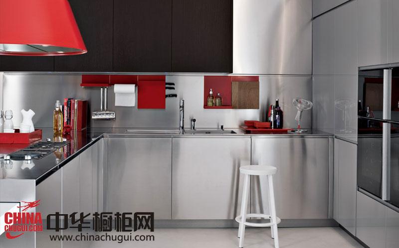 简约风格整体橱柜图片 不锈钢橱柜让厨房更时尚