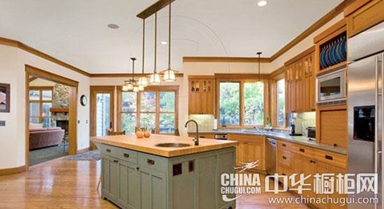 时尚厨房中岛台设计 让厨房功能更扩展