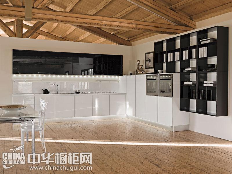 L型现代简约风格橱柜图片 打造家居中的亮丽风景线