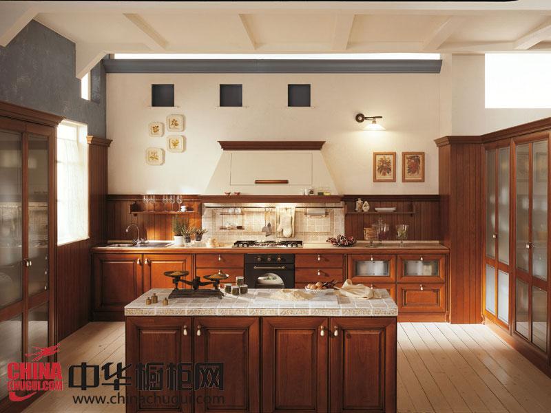 新古典风格整体橱柜图片 封闭式打造卫生整体厨房