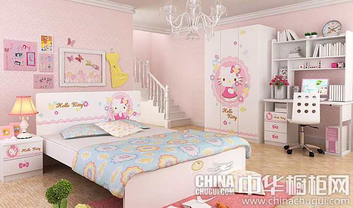 可爱动人整体衣柜图片 萌女小萝莉最爱的卧室设计