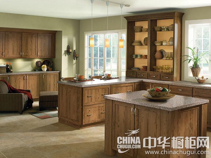 中式风格整体橱柜图片 开放式厨房的魅力装修