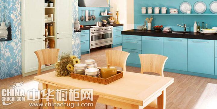 地中海风格整体橱柜图片 造就清清爽爽厨房生活