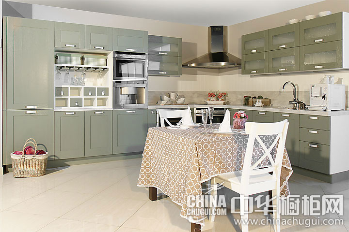 田园风格整体橱柜图片 使人倍感温馨的厨房设计