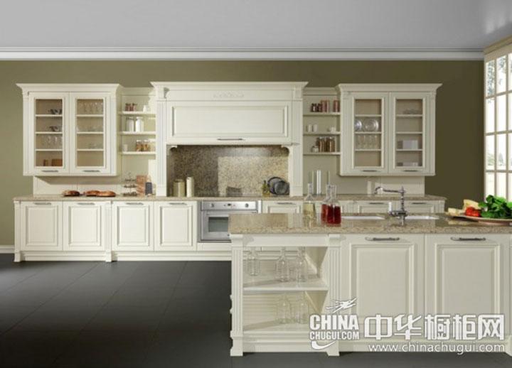 欧式风格整体橱柜图片 简洁大气的开放式厨房