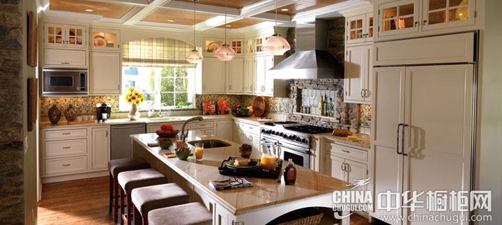 温暖田园风格整体橱柜图片 阳光照进你的厨房