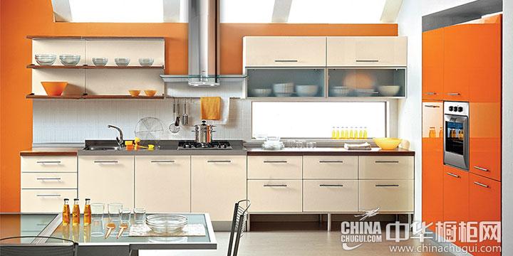 橙色整体橱柜图片 活力温馨的烹饪空间