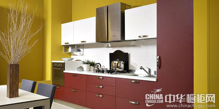 厨房装修效果图大全2014图片 撞色美味厨房