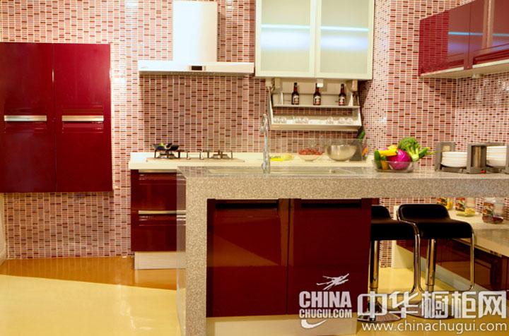 可爱风厨房装修效果图 俏皮可爱的整体厨房-中华橱柜网