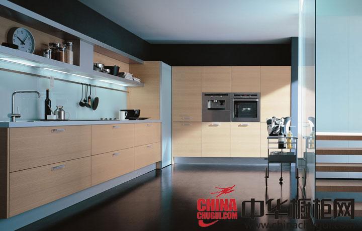 原木色简约风格橱柜效果图 厨房里的最美风景