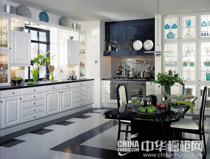 简欧风格厨房装修效果图 白璧无瑕的厨房
