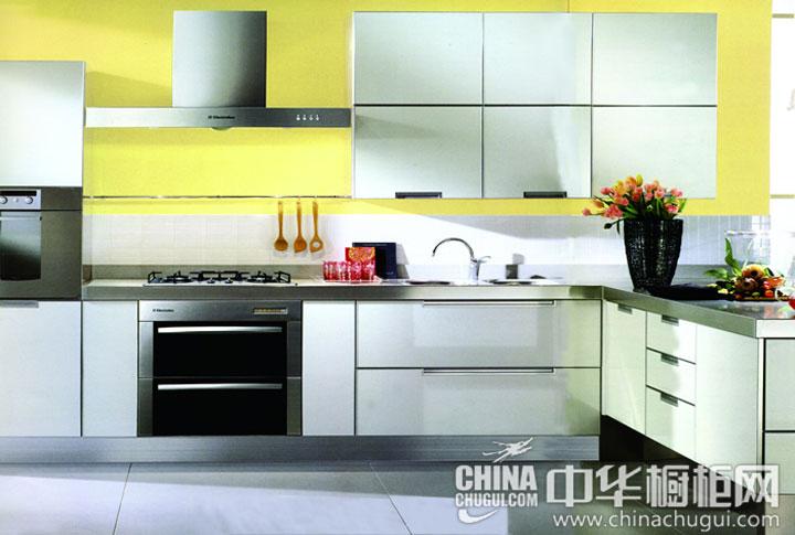 纯净的厨房空间 2014新款简约风格橱柜效果图大全