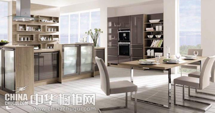 大户型厨房装修效果图 现代风格橱柜图片