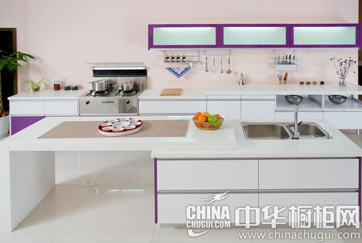 简约风格橱柜图片 紫色的浪漫情节