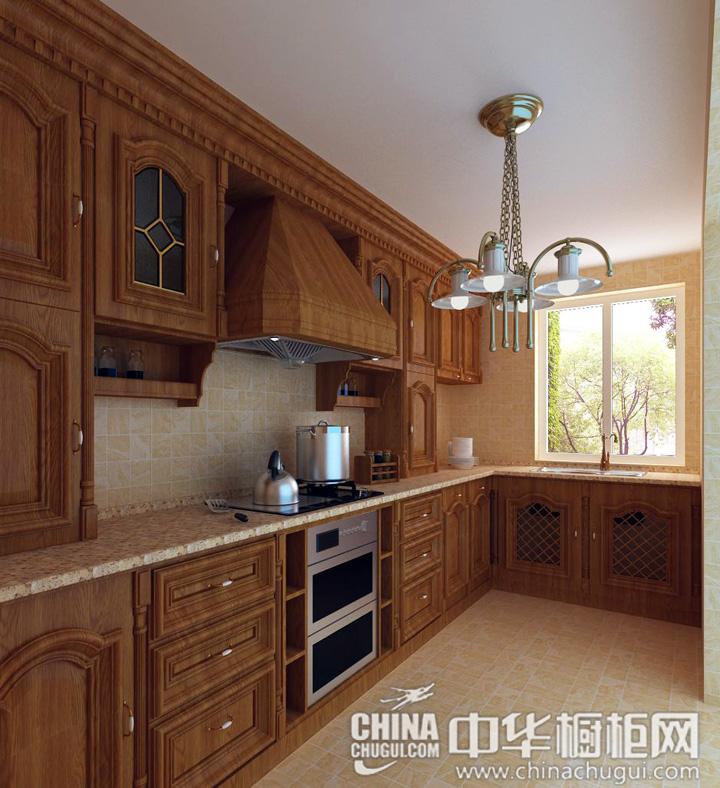 古典丰韵的厨房 欧式风格橱柜效果图