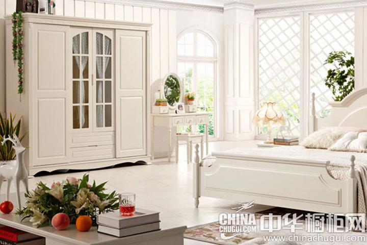 小清新卧室 韩式田园风格衣柜效果图