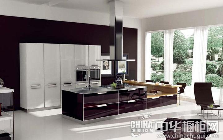高贵大方的橱柜 开放式厨房装修效果图